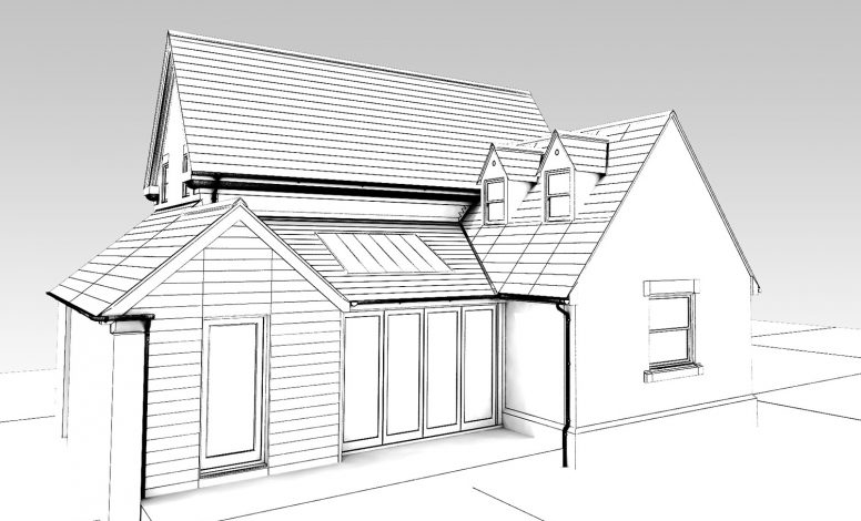 Proposed Extension, wireframe