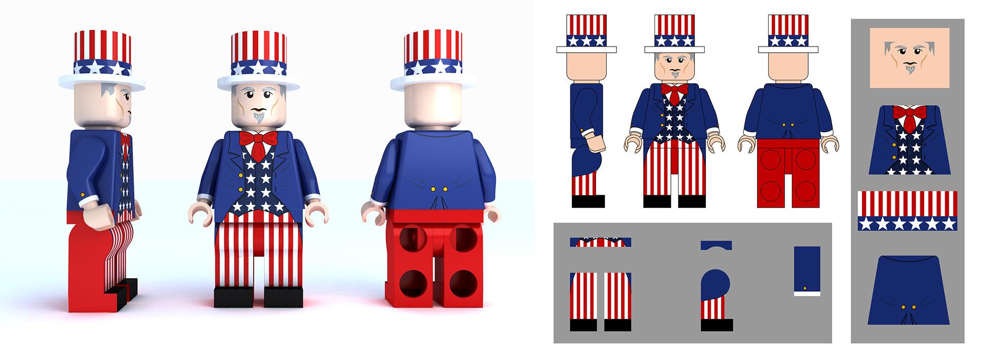 LEGO Uncle Sam
