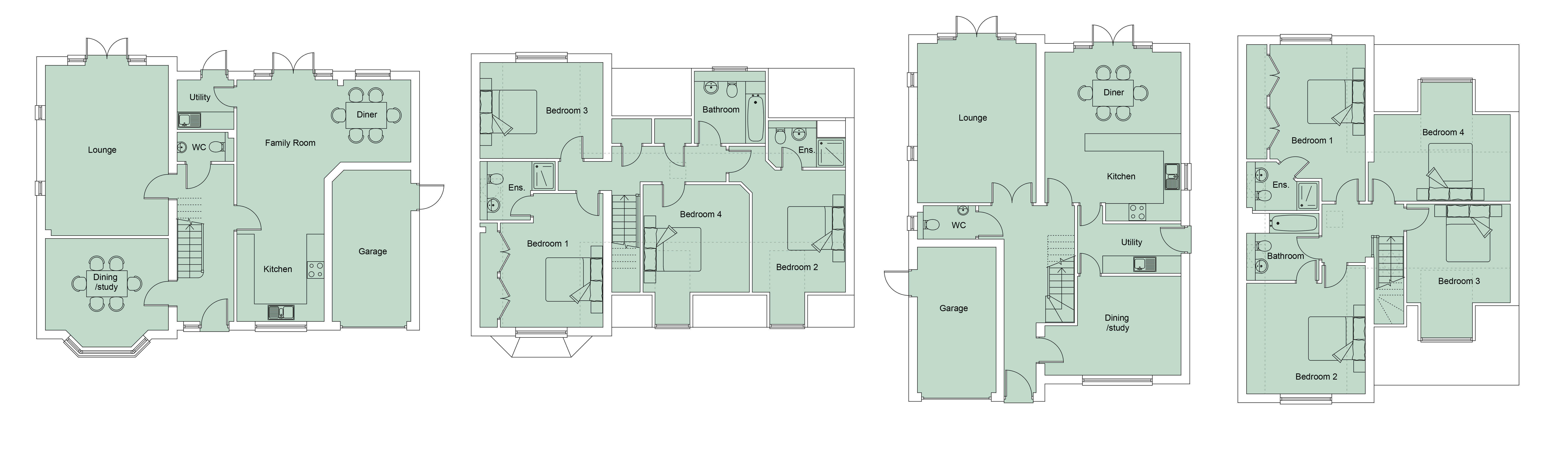 NEH001 Beech Grove Plots 2D floorplans 005