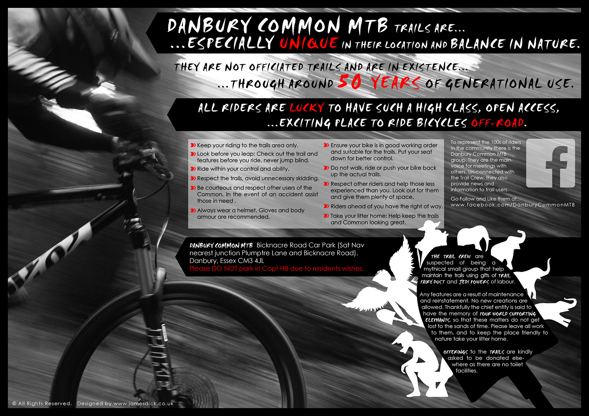 Danbury Common MTB trail map 007 highest
